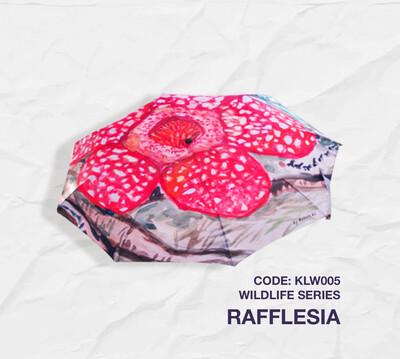 Retractable Umbrella: Wildlife Series - Rafflesia