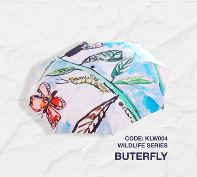 Retractable Umbrella: Wilelife Series - Butterfly