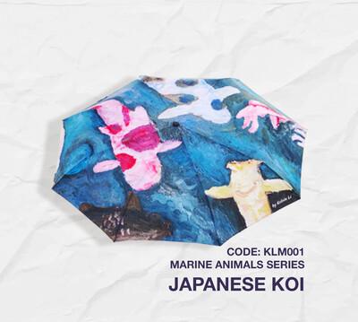 Retractable Umbrella: Marine Animal Series - Japanese Koi