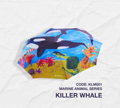 Retractable Umbrella: Marine Animal Series - Killer Whale