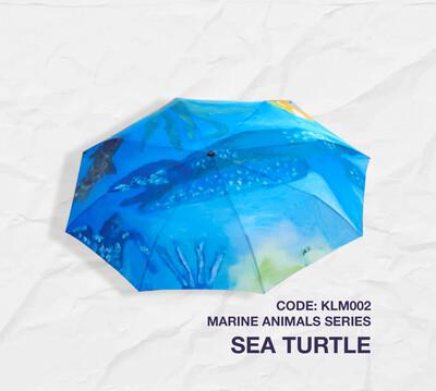 Retractable Umbrella: Marine Animal Series -Sea Turtle