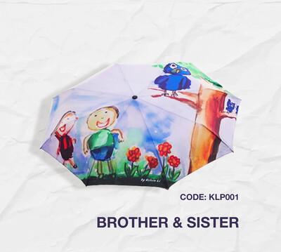Retractable Umbrella: Brother & Sister