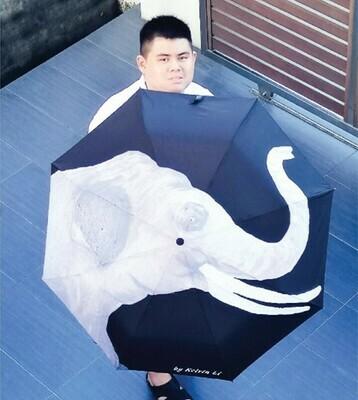Retractable Umbrella: Wilelife Series - Elephant