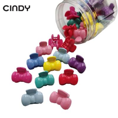 Colorful Small Ribbon Hair Sharkclip In Bottle Girl kids Hairclip