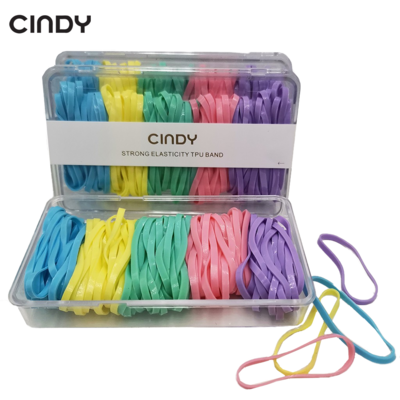 CINDY Spring Color Hair Rubberband Box Elastic Hair Ties