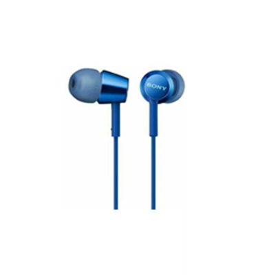 SONY MDR-EX155 BLUE EARPHONE FOR SMARTPHONES 9mm