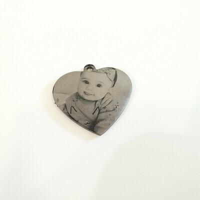 Laser Engraving Heart Shape Pendant