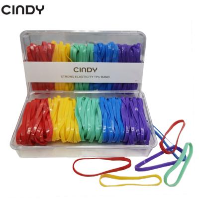 CINDY Rainbow Color Hair Rubberband Box Elastic Hair Ties