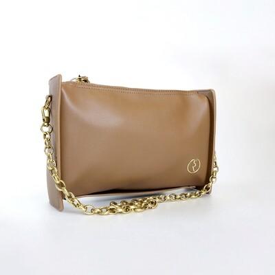 CINDY Camel Retro Rectangle Sling Bag / Shoulder Bag - I3