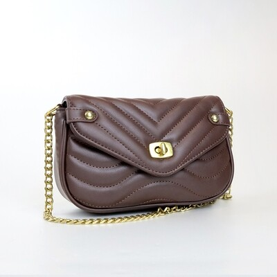 CINDY Coffee Fashion Sling Bag With Small Coin Purse - J2
