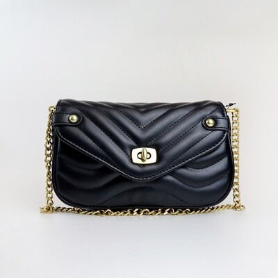 CINDY Black Fashion Sling Bag With Small Coin Purse - J1