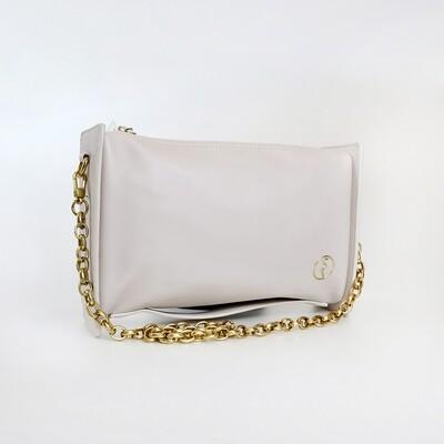 CINDY White Retro Rectangle Sling Bag / Shoulder Bag - I2