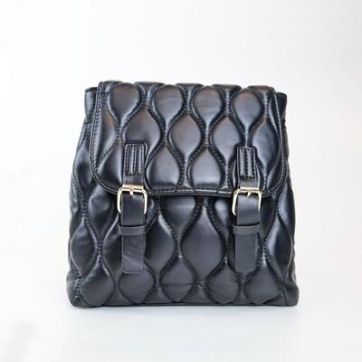 CINDY Black Vintage Backpack - H1