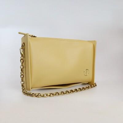 CINDY Yellow Retro Rectangle Sling Bag / Shoulder Bag - I4