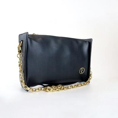 CINDY Black Retro Rectangle Sling Bag / Shoulder Bag - I1