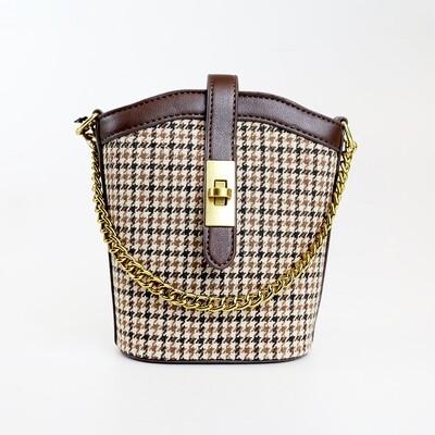 CINDY Coffee Vintage Bucket Sling Bag - E3