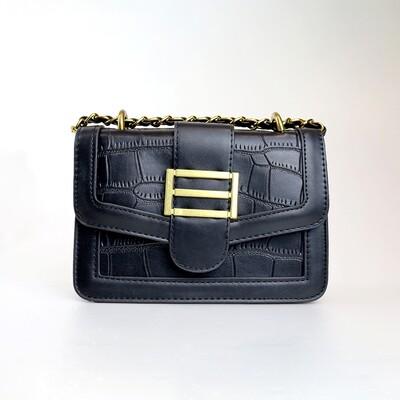 CINDY Black Retro Sling Bag - B1