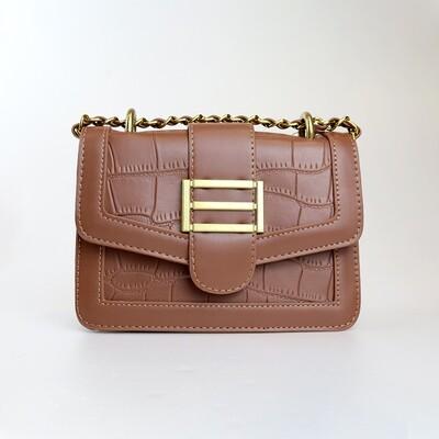 CINDY Brown Retro Sling Bag - B2
