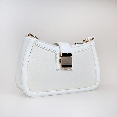 CINDY White Ladies Shoulder Bag / Handbag - A2