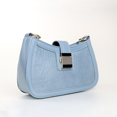 CINDY Frost Blue Ladies Shoulder Bag / Handbag - A4