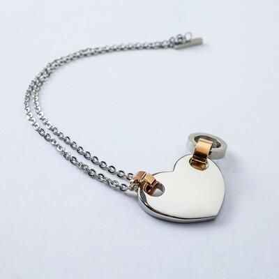 Silverland Heart Stainless Steel Bracelet