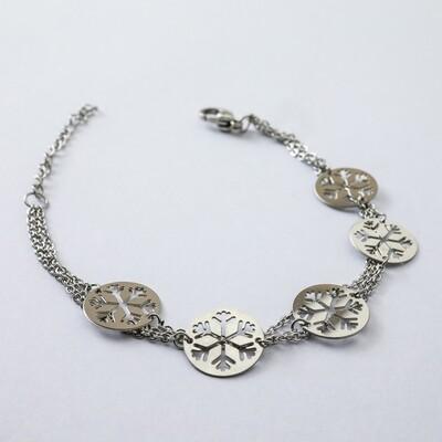 Silverland Snowflake Stainless Steel Bracelet