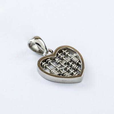 Silverland Stainless Steel Abacus Pendant
