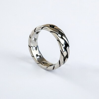 Silverland Stainless Steel 7mm Chain Ring