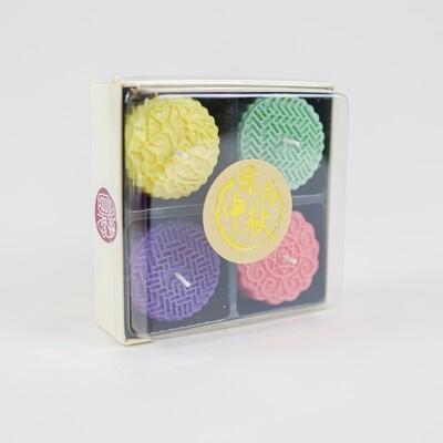 """Bing Pi"" Coloured Mooncake Candles"