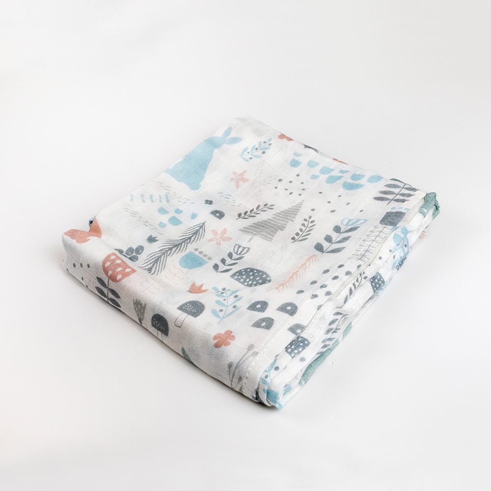 Quintessential 100% Bamboo Muslin Swaddle