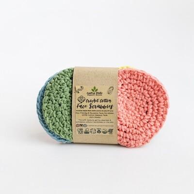 Handmade Crochet 100% Cotton Scrubbies, 6pc per box - 8cm Single Layer, Bohemian 2 Collection