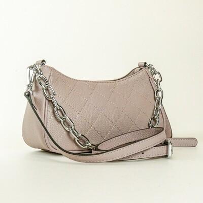 Esfolar Beige Quilted Handbag - F2