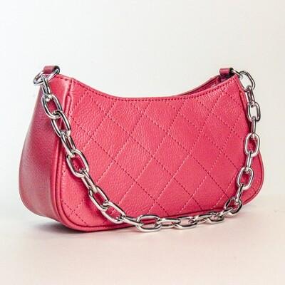 Esfolar Quilted Red Handbag - F1