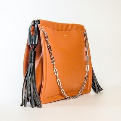 Esfolar Orange Brown Tassel Handbag - K1