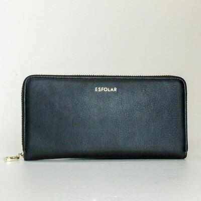 Esfolar Black Long Wallet
