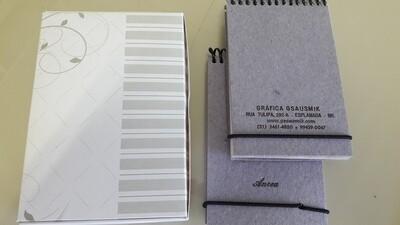 Cadernetas Mini-Rústico (10 unidades)