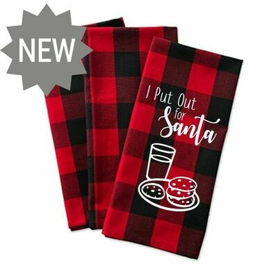 Put out for Santa tea towel