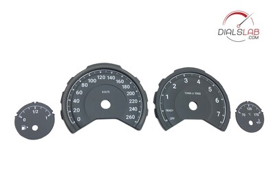 """3D BMW F3x dials """"M Style"""" - From MPH to km/h conversion"""