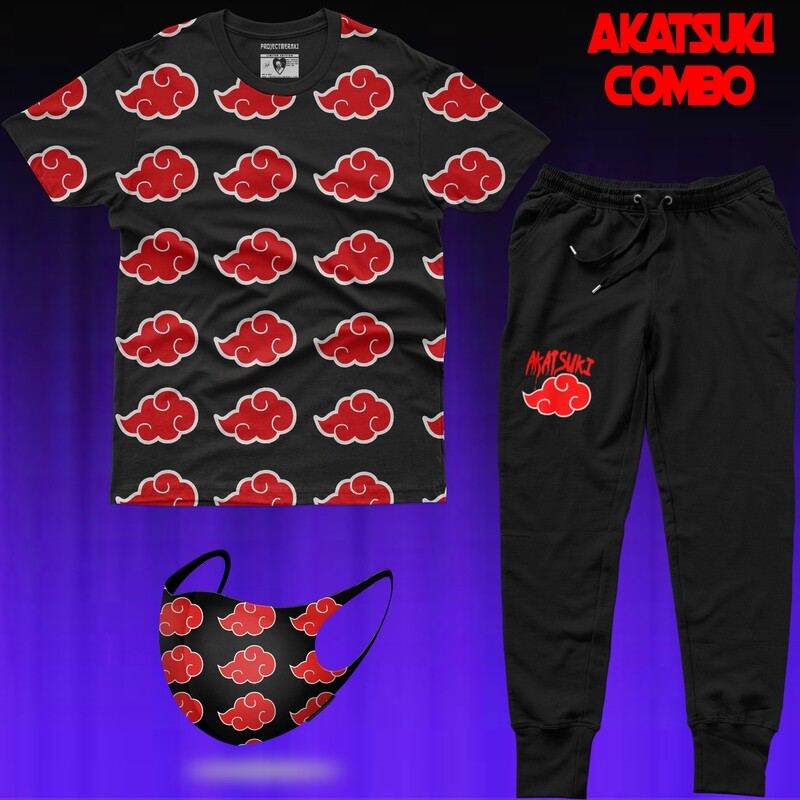 Akatsuki Combo (Tshirt+Jogger+Mask)