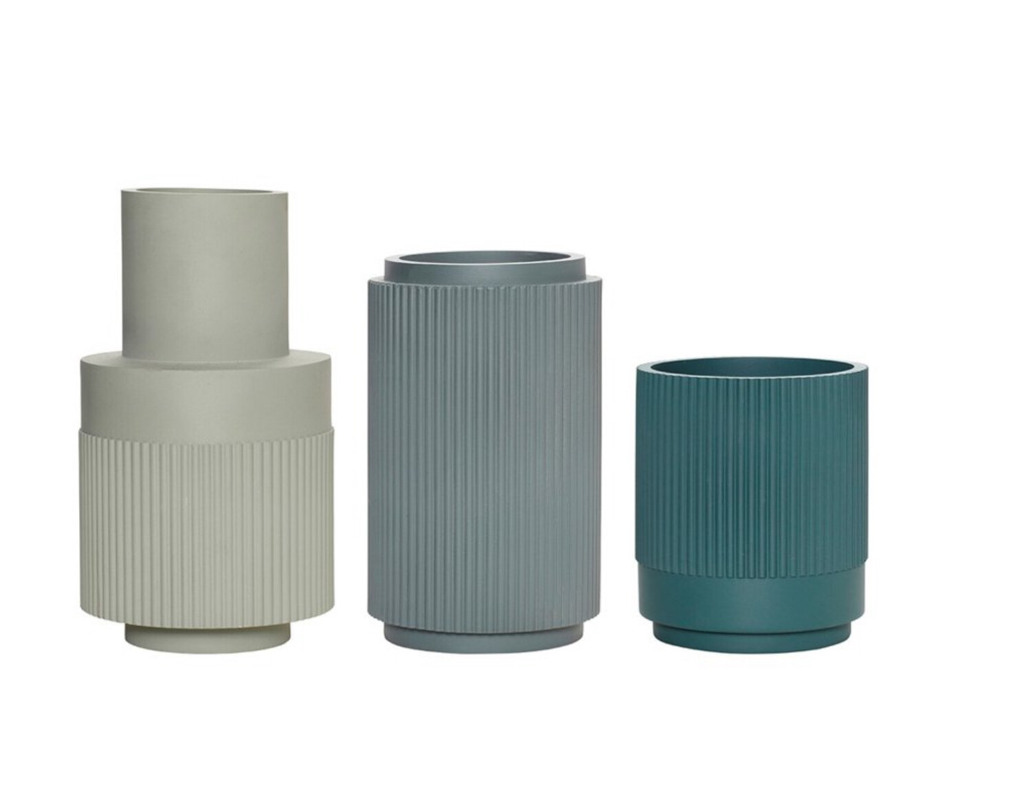 Set Green Vases