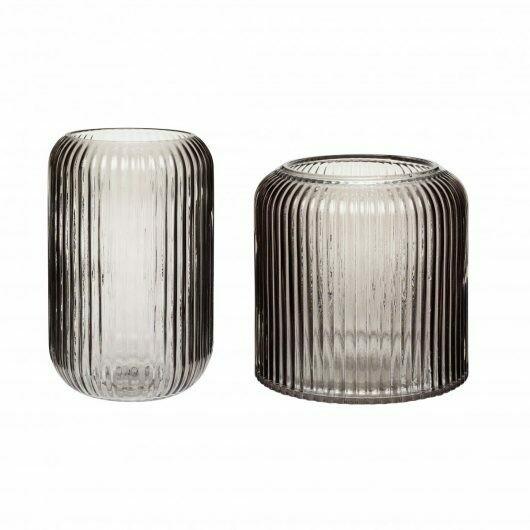 Vase smoked s/2