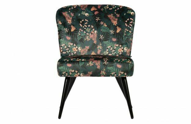Fleur armchair velvet snake print
