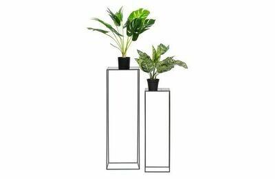 Set of 2 - zeger plant table metal black