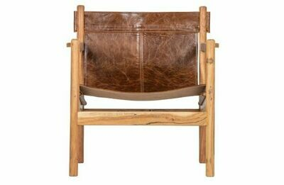 Chill armchair leather brown