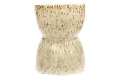 Glazed stool ceramics nougat