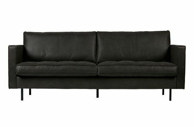 Rodeo classic sofa 2,5-seater BLACK