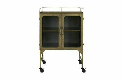 Talent metal cabinet antique brass