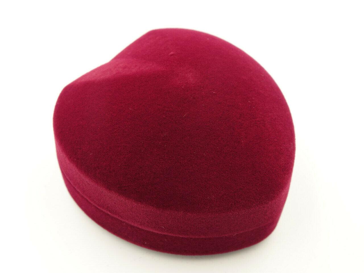 Футляр для кольца Сердце Б бордо