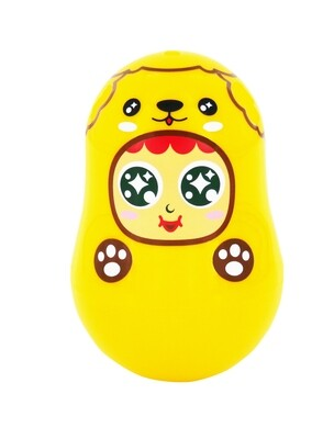 QQ Tumbler Paper Clips Box -Dog (QQ不倒翁萬字夾(萬用)盒 - 小狗)