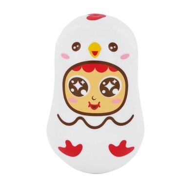 QQ Tumbler Paper Clips Box - Chicken (QQ不倒翁萬字夾(萬用)盒 - 小雞)